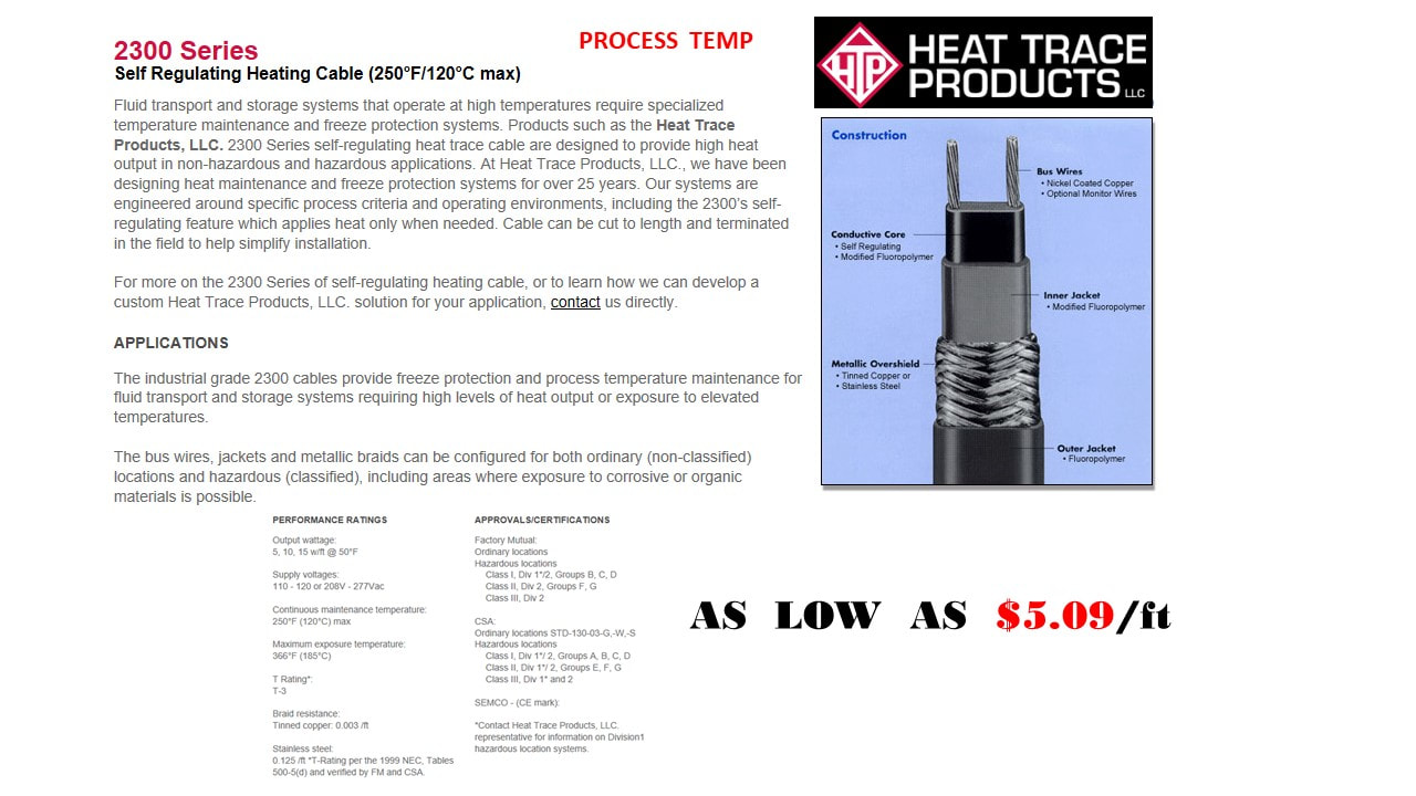 HEAT TRACE PRODUCTS - dancosystems com